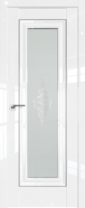 Цвет: Белый Люкс, Молдинг:Серебро, Стекло: Кристалл матовый