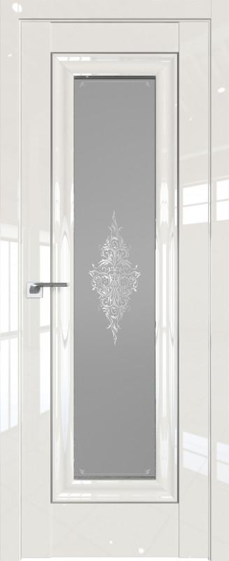 Цвет: Магнолия Люкс, Молдинг:Серебро, Стекло: Кристалл графит