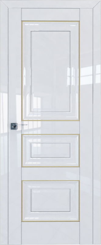 Цвет: Белый Люкс, Молдинг: Золото