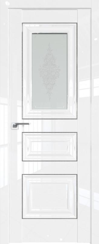 Цвет: Белый Люкс, Молдинг:Серебро, Стекло: Кристалл графит