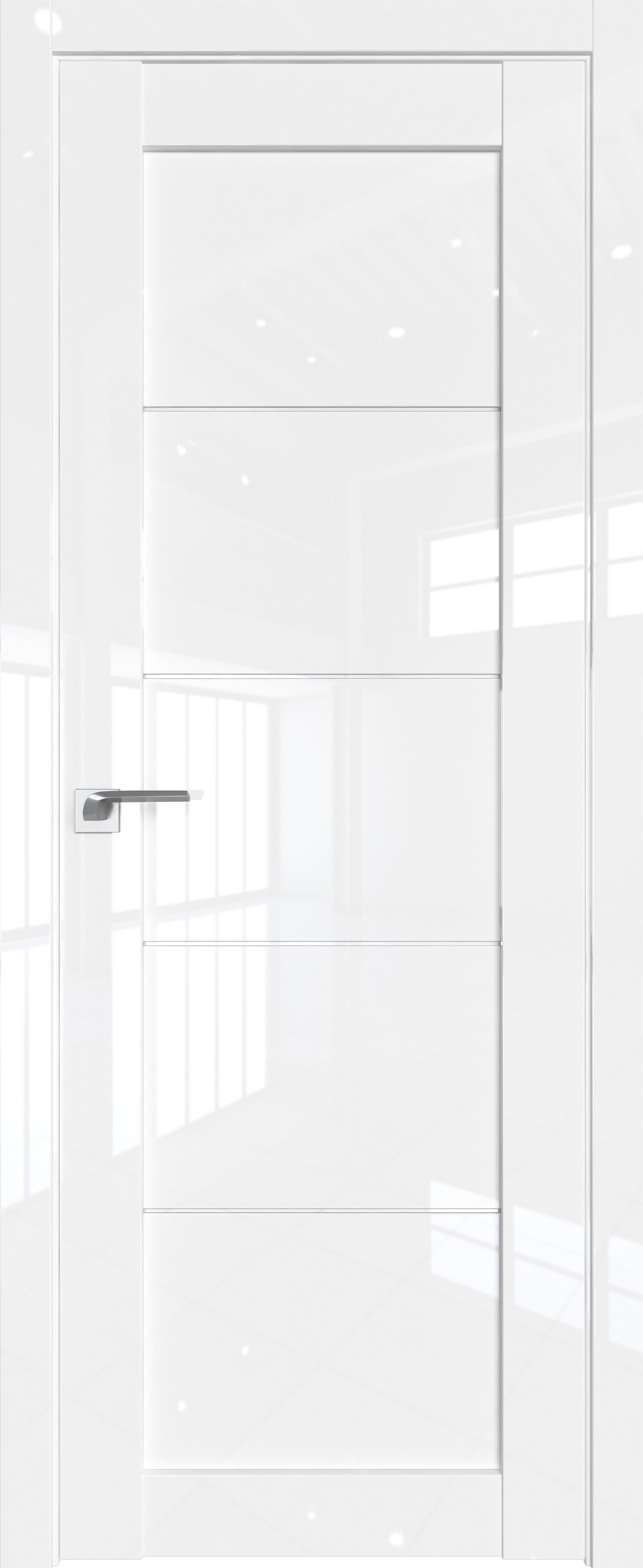 Цвет: Белый люкс, Остекление: Триплекс белый
