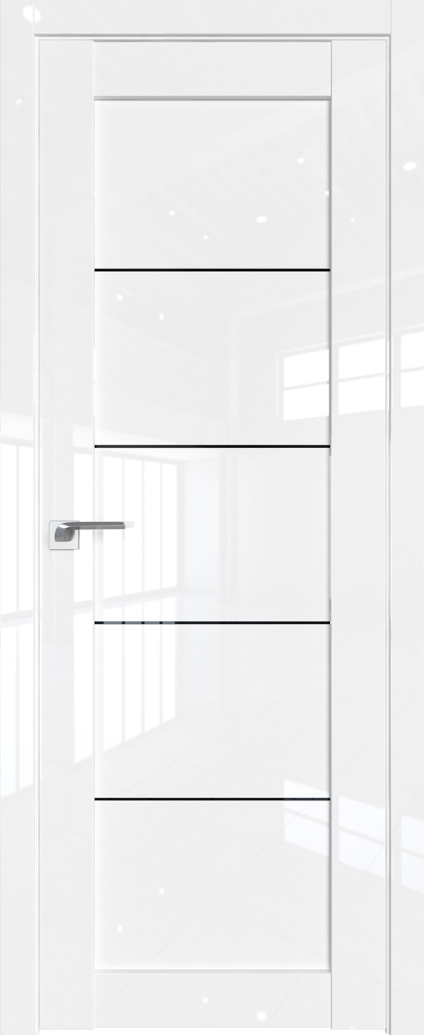 Цвет: Белый люкс, Остекление: Триплекс черный