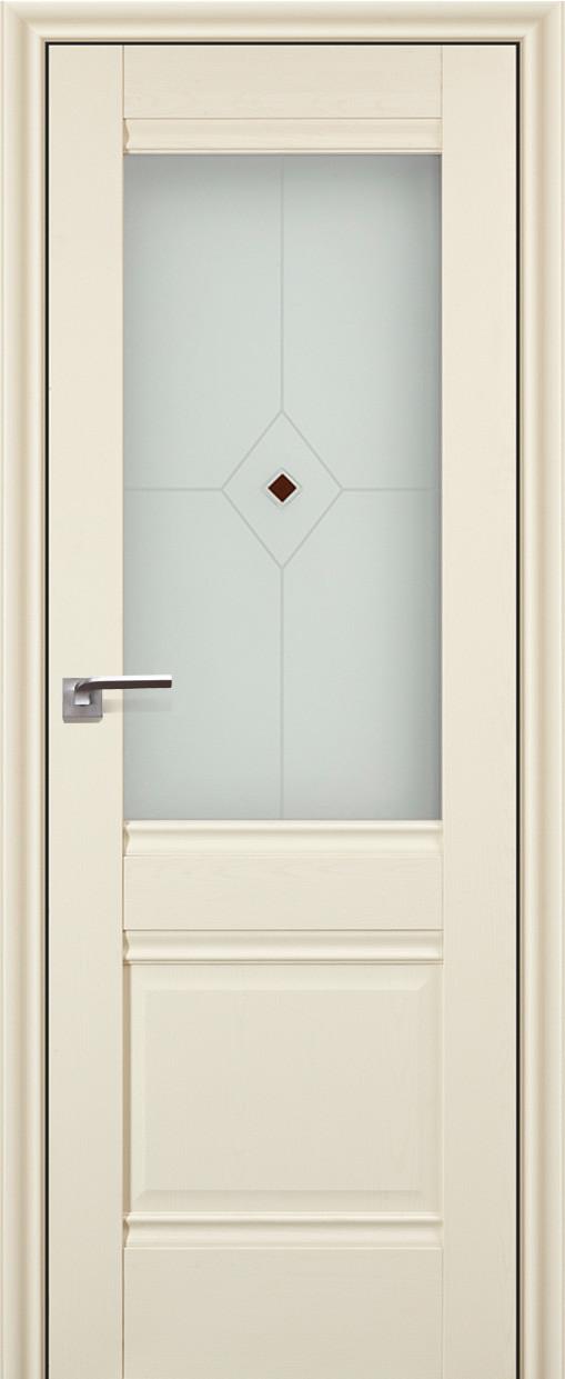 Цвет: Эш Вайт Белый ясень, Стело: Узор 2 с коричневым фьюзингом