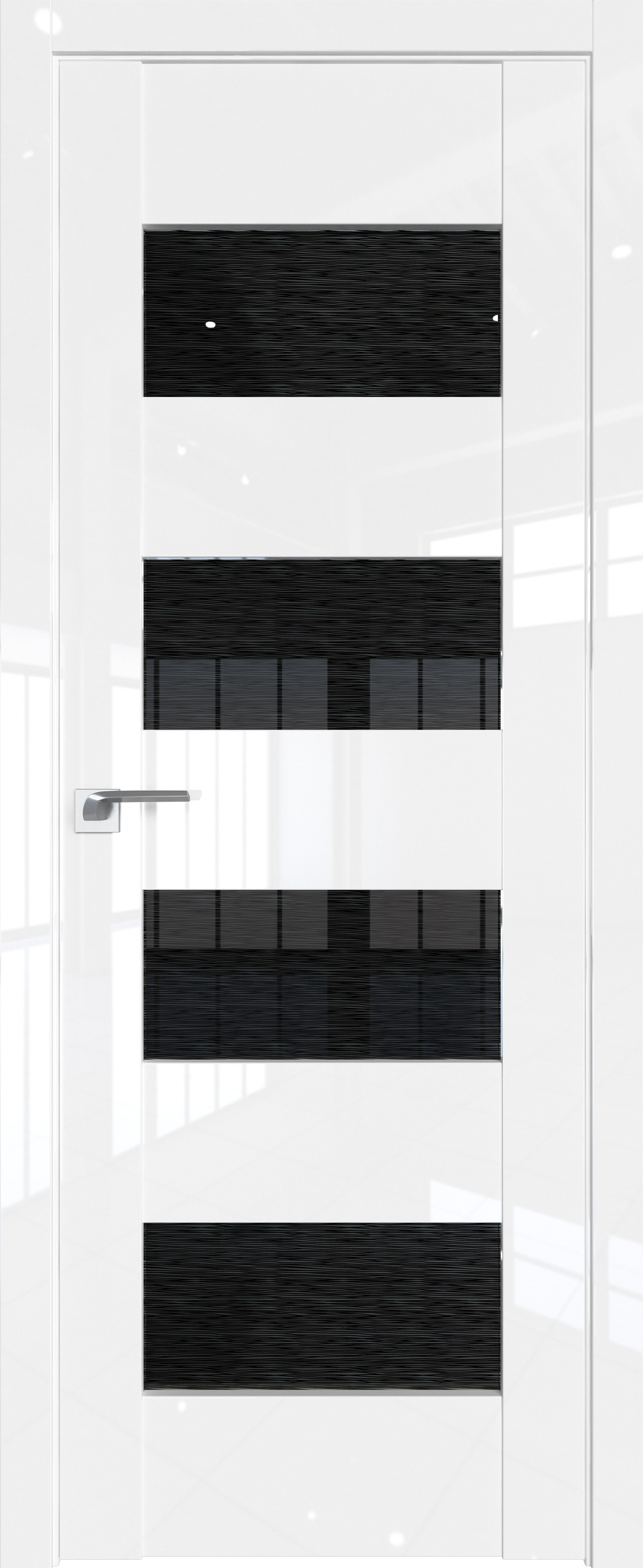 Цвет: Белый Люкс, Остекление: Дождь черный