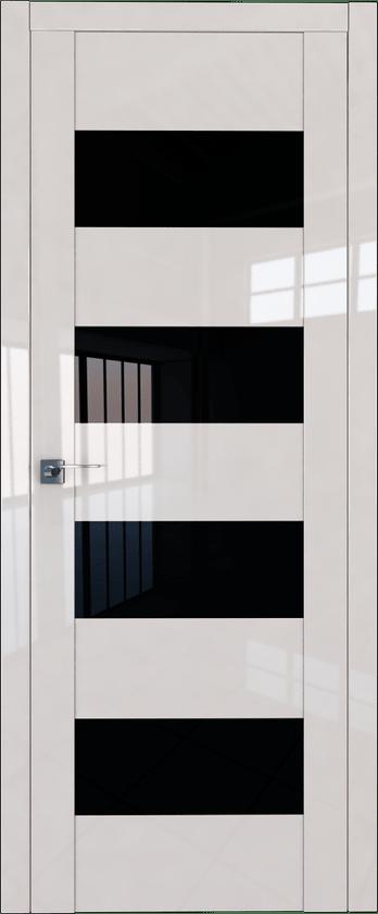Цвет: Магнолия Люкс, Остекление: Черный триплекс