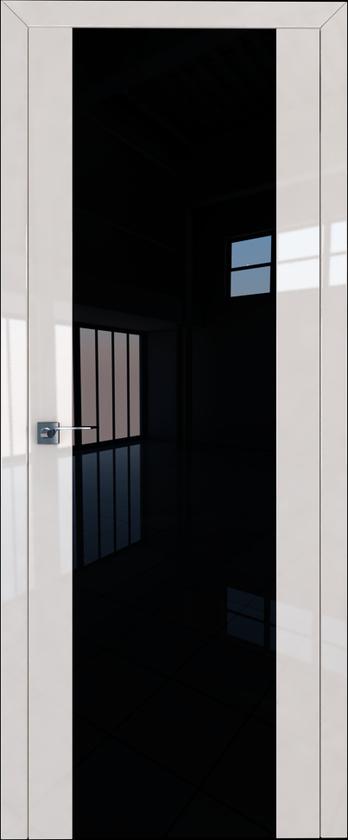 Цвет: Магнолия Люкс, Остекление: Триплекс черный