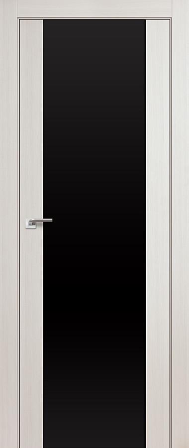 Цвет: Эш Вайт Белёный Дуб Мелинга, Остекление: Черный Триплекс