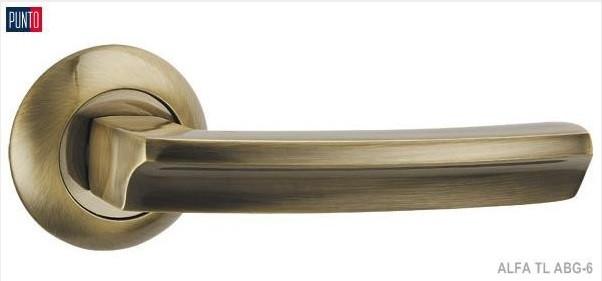 Фурнитура Punto Ручка дверная ALFA TL ABG-6 зеленая бронза