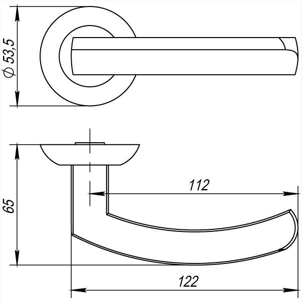 Фурнитура Punto Ручка дверная ALFA TL размеры