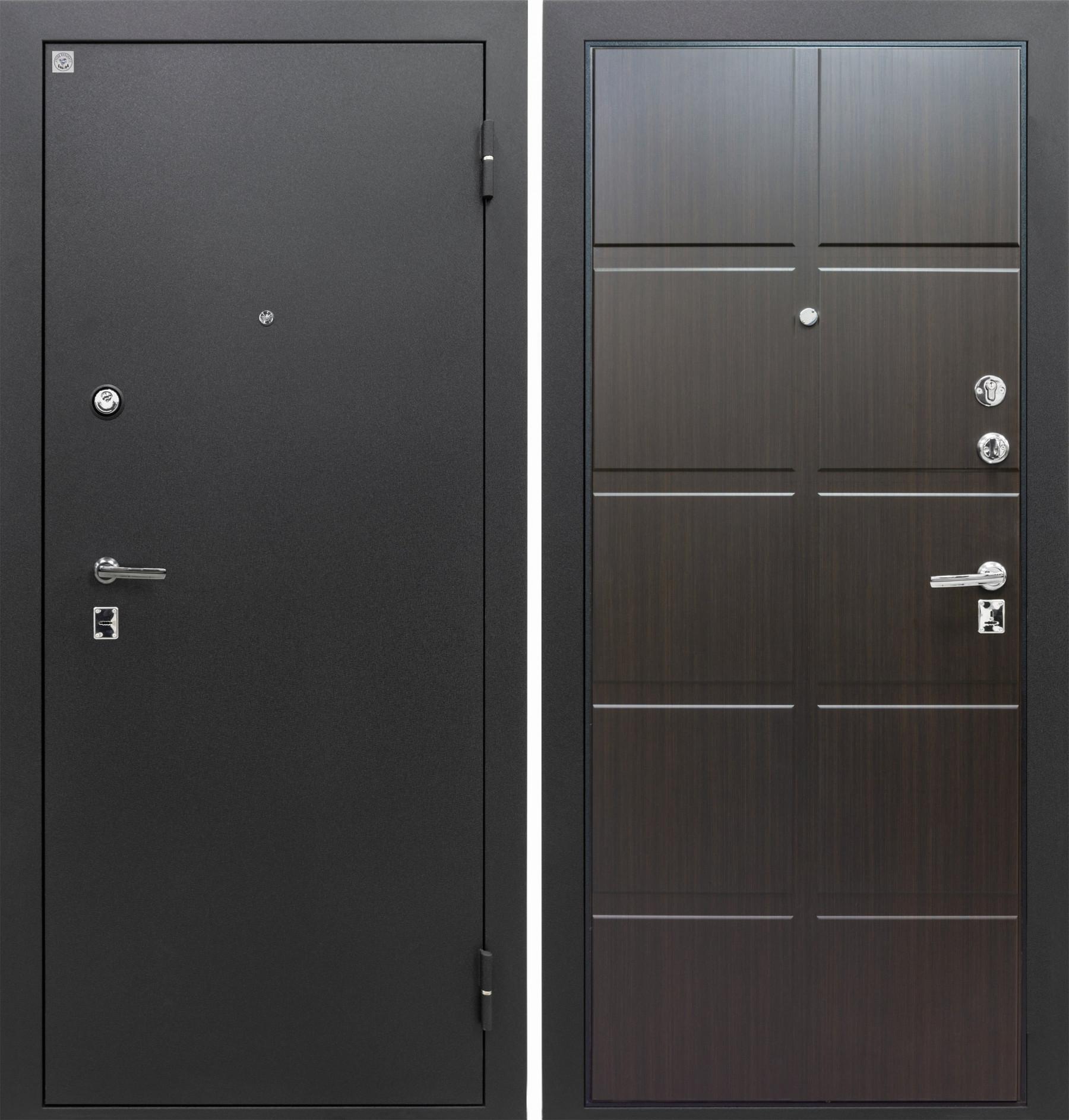 Входная дверь Алмаз 100 вид снаружи и внутри