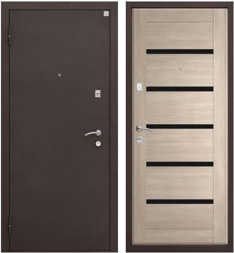 Входная дверь Амаз 11 ЭКО вид снаружи и изнутри