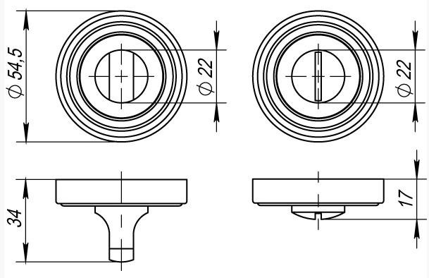 Фурнитура Punto Ручка поворотная BK6 ML