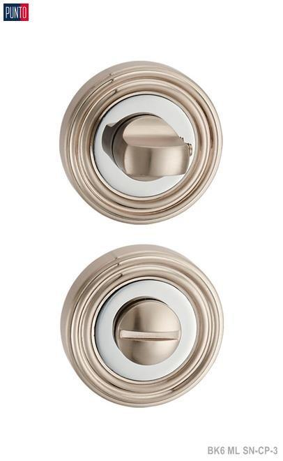Фурнитура Punto Ручка поворотная BK6 ML SN/CP-3 матовый никель/хром