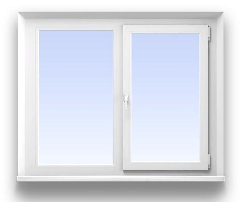 Двустворчатое окно KBE 3-х камерное   Размер 1400*1400 мм. профиль Siberia, фурнитура Maco Eco