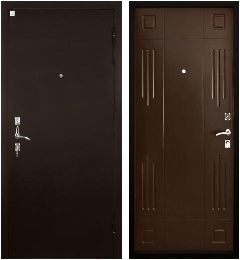 Входная дверь Гарант вид снаружи и изнутри