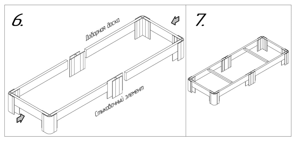 Грядка  LUX из ПВХ - комплект 3-х метрового добора