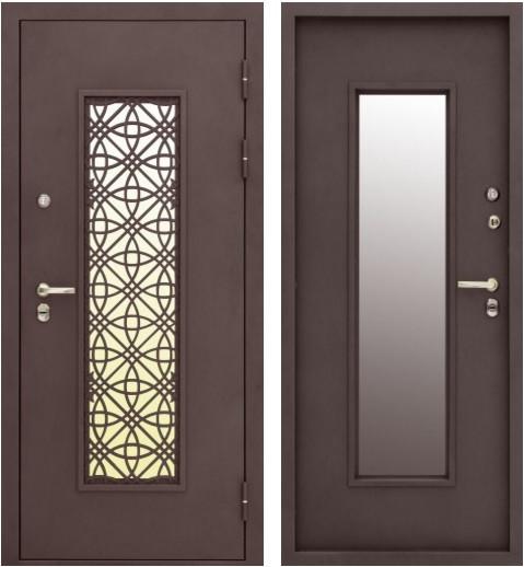 Входная дверь Изумруд Термо вид снаружи и изнутри