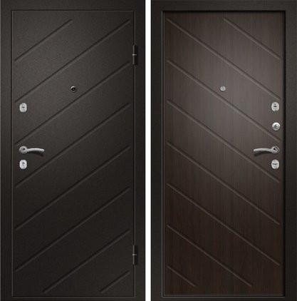 Входная дверь Ника-120 сатин черный / Венге