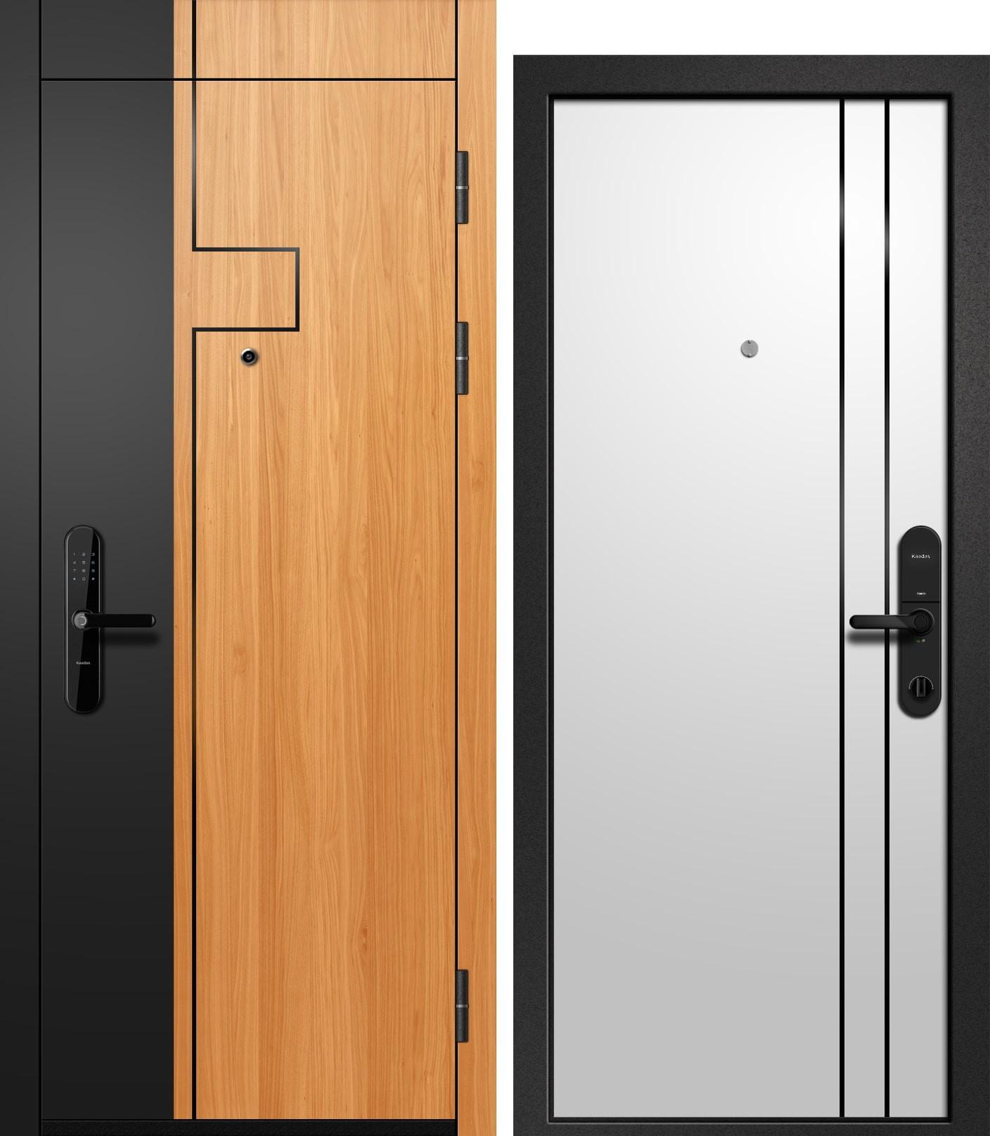Ретвизан ОРФЕЙ-711 Софт черный+Вишня оксфорд+молдинг/Силк сноу+молдинг/Букле черный, биометрический замок