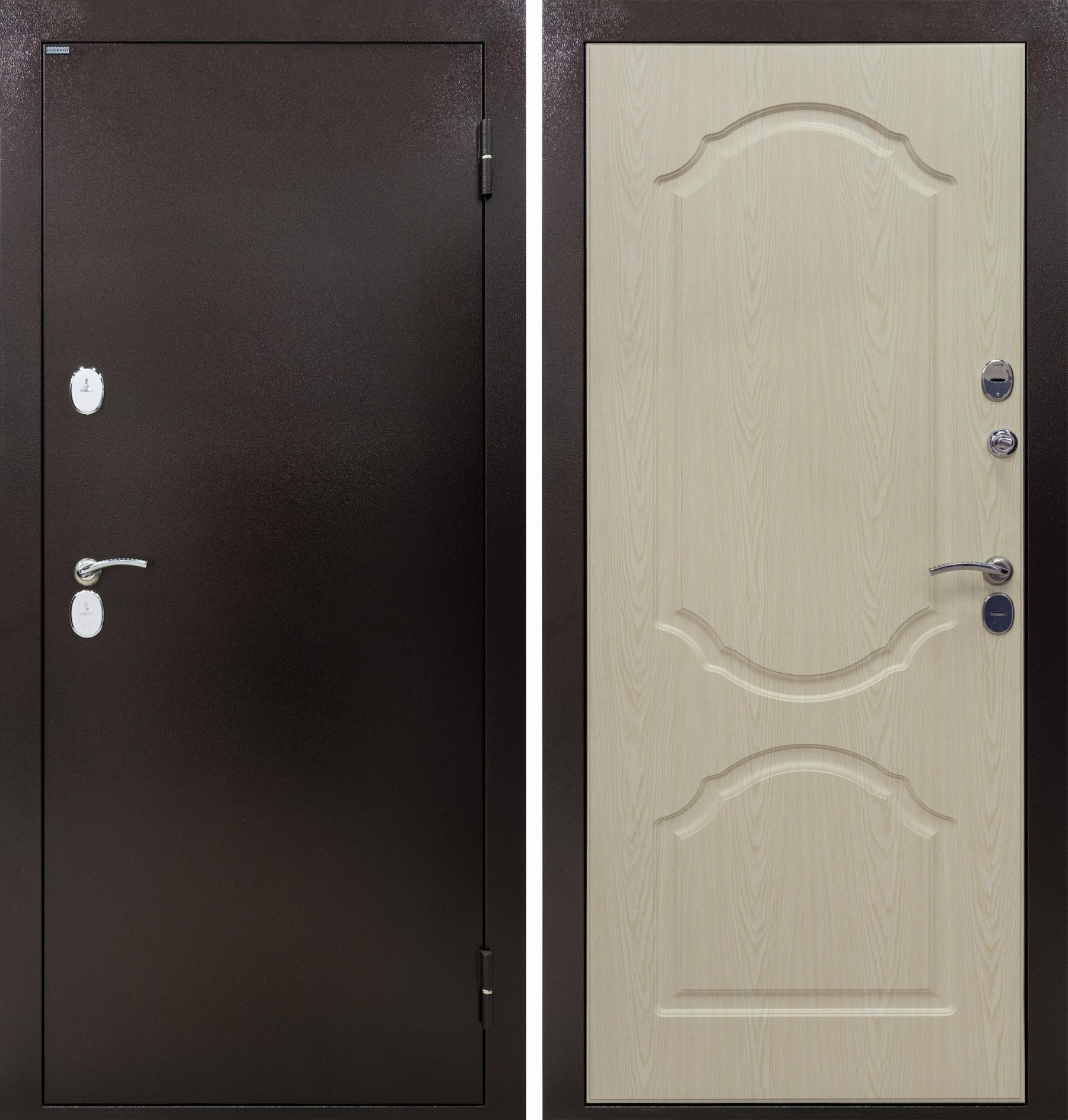 Входная дверь ТРИЕРА-2 ТЕРМО, Дуб беленый НП