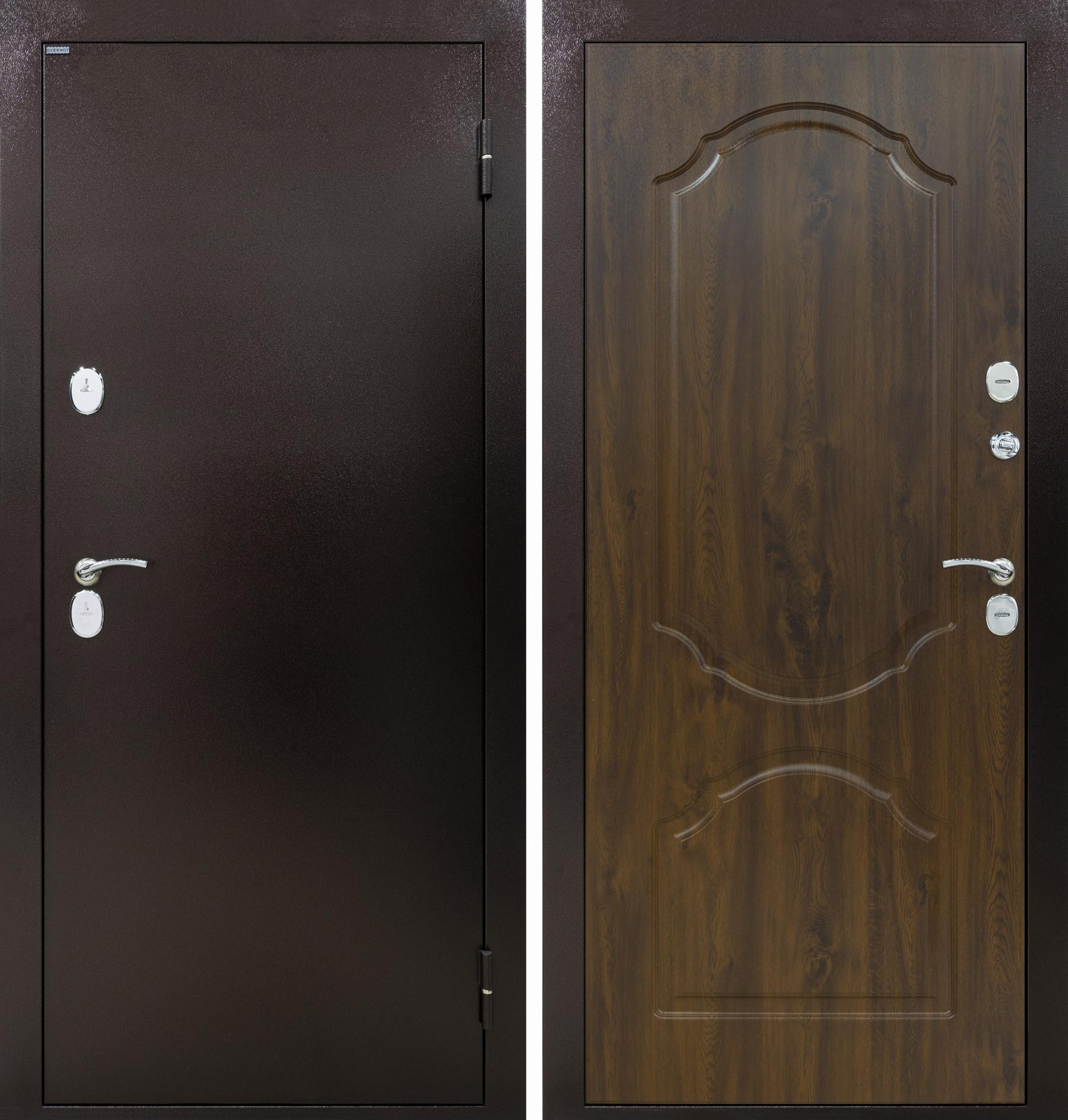 Входная дверь ТРИЕРА-2 ТЕРМО, Дуб темный НП