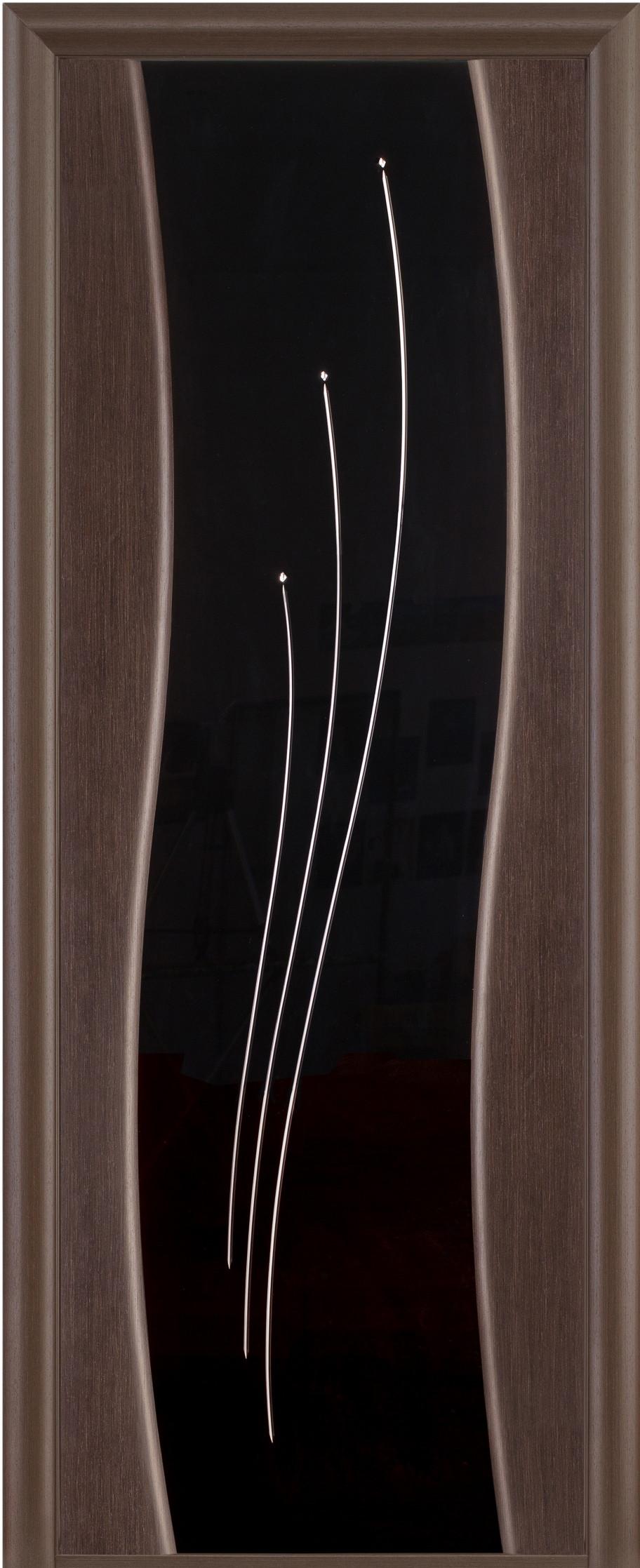 Цвет: Тонированный черный дуб, Остекление: Черное стекло
