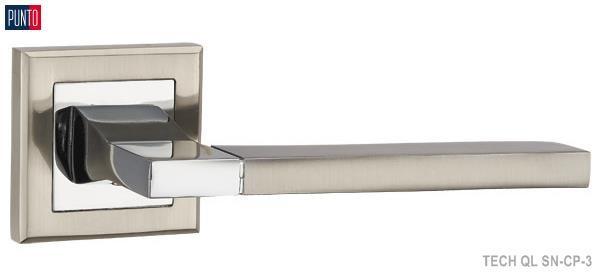 Фурнитура Punto Ручка дверная TECH QL SN/CP-3 матовый никель/хром