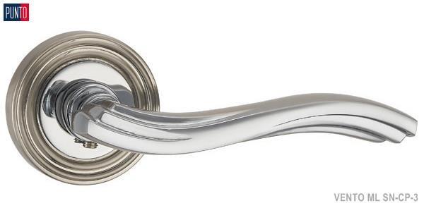 Фурнитура Punto Ручка дверная VENTO ML SN/CP-3 матовый никель/хром