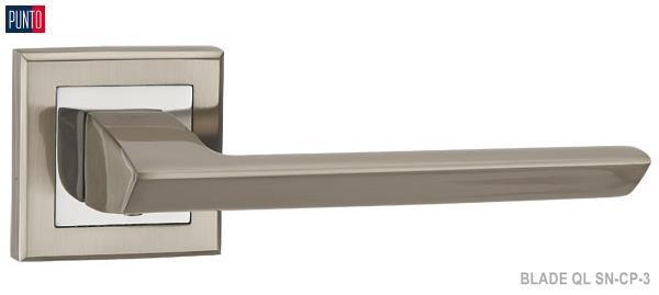 Фурнитура Punto Ручка дверная BLADE QL SN/CP-3 матовый никель/хром