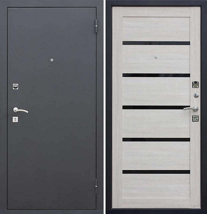 Входная дверь Гарда Муар/Лиственница мокко - царга