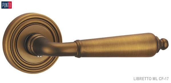 Фурнитура Punto Ручка дверная LIBRETTO ML CF-17 кофе
