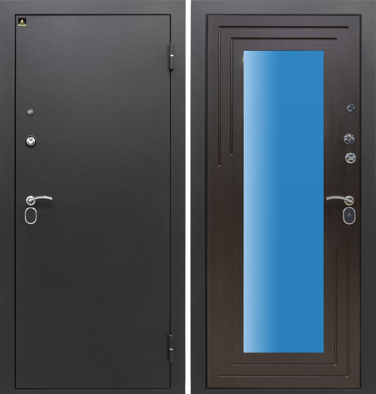 Аризона-222 (царговая) Венге с Зеркалом/ Сатин черный