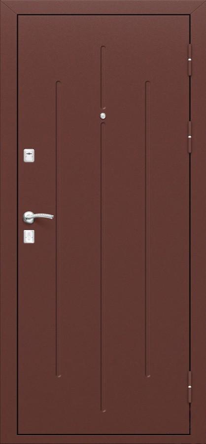 СтройГост 7-2 Металл/металл, однозамковая, Двухслойное полимерное покрытие: МЕДЬ