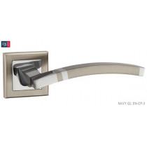 Фурнитура Punto Ручка дверная NAVY QL SN/CP-3 матовый никель/хром