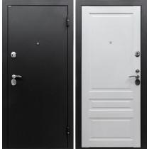 """Входная дверь Медея-321 """"Эрмитаж 2"""" Сатин черный /Белый"""